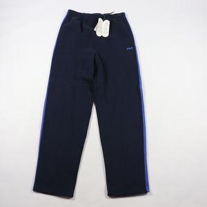 New 90s Fila Mens Medium Spell Out Sweatpants Blue